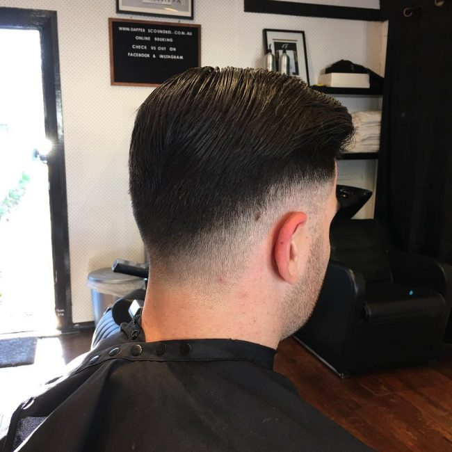 Low Fade Slick Back