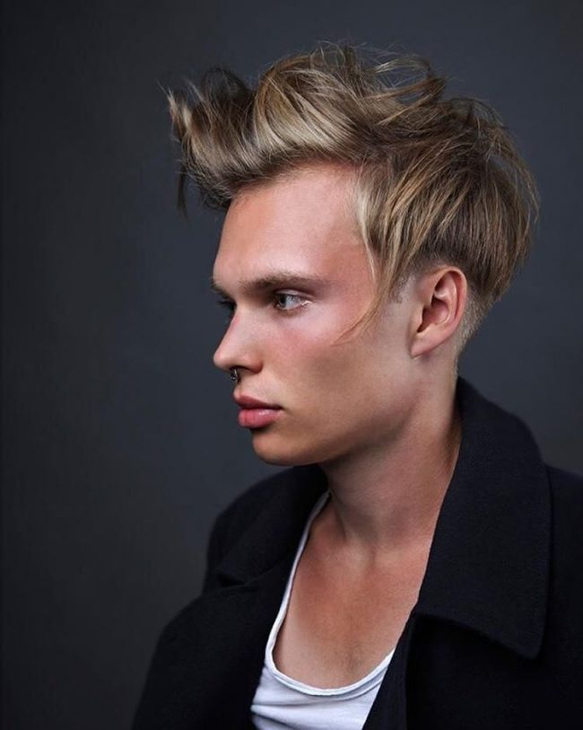 Messy Pomp with Disconnected Undercut