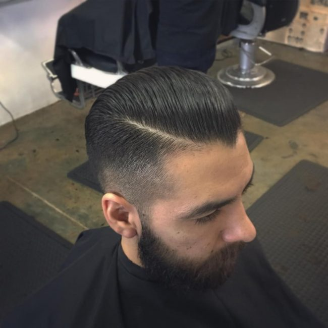 Pomade with High Fade