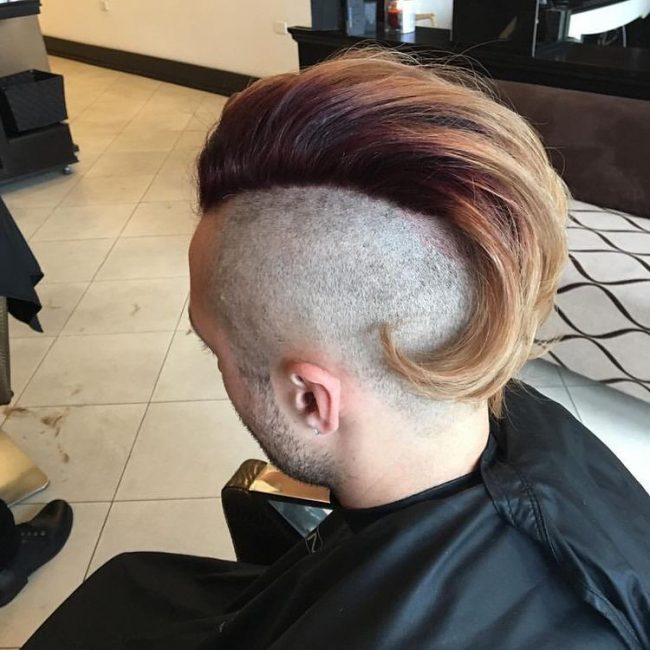 Red-Orange Blonde Mohawk