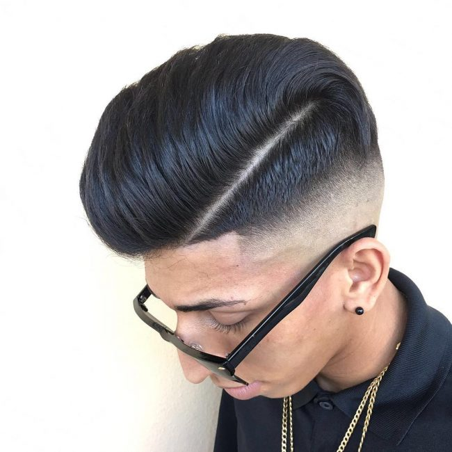 Sassy Pomp with Undercut and Clean Fade