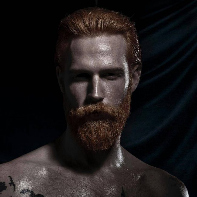 Sculpted Ginger Beard