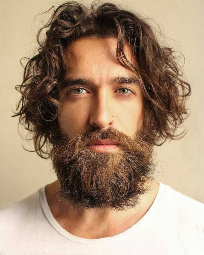 Sexy Beard with Killer Hairstyle
