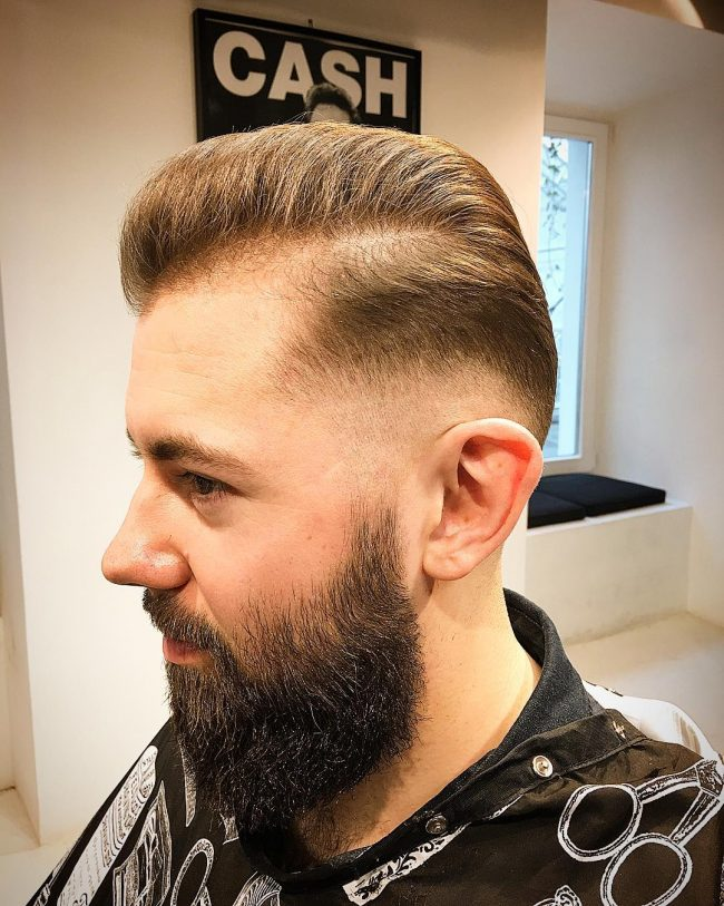 Skin Fade for Part Style Pomp
