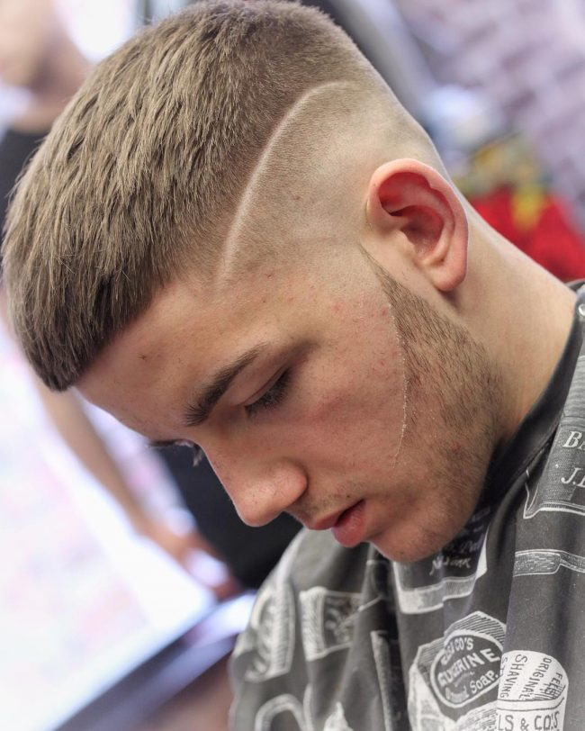 Skin Fade with Cropped Fringe