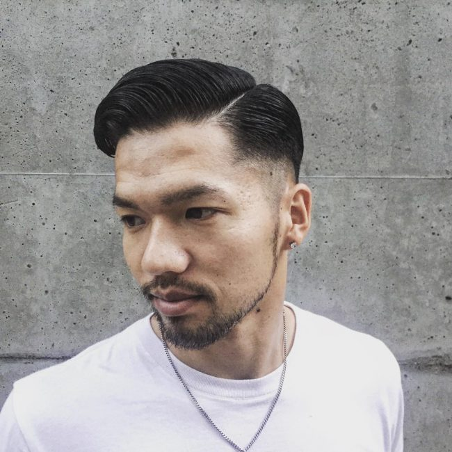 Mens Taper Fade Haircut Beard