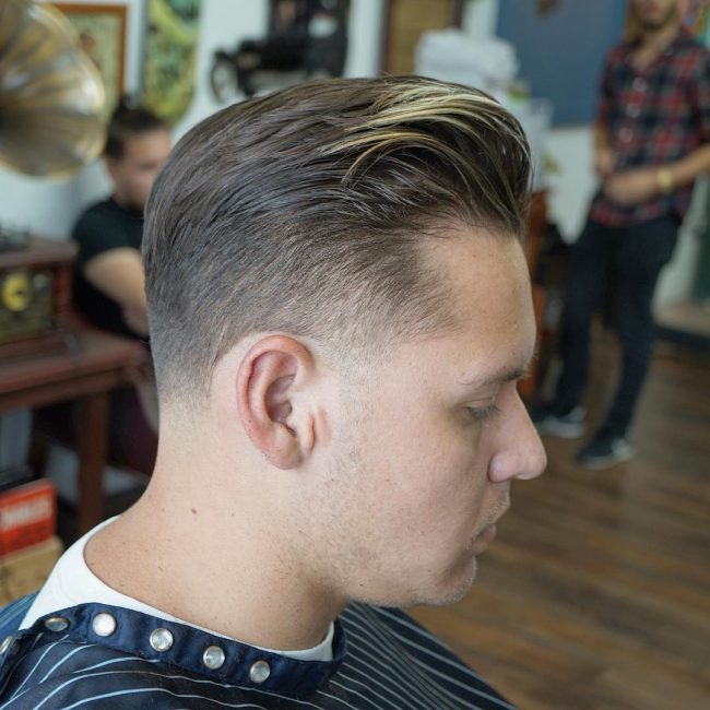 Slicked Back Pomp with Undercut