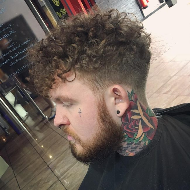 Soft Curls with a Fade
