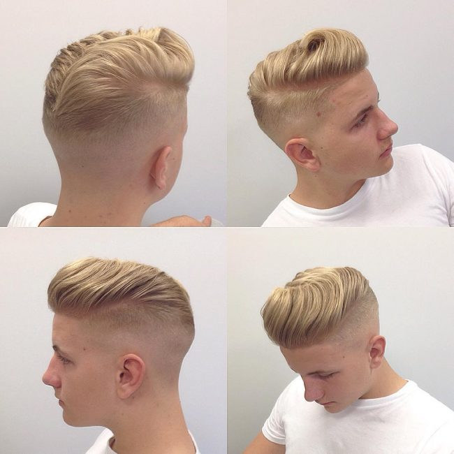 Textured and Faded Pompadour