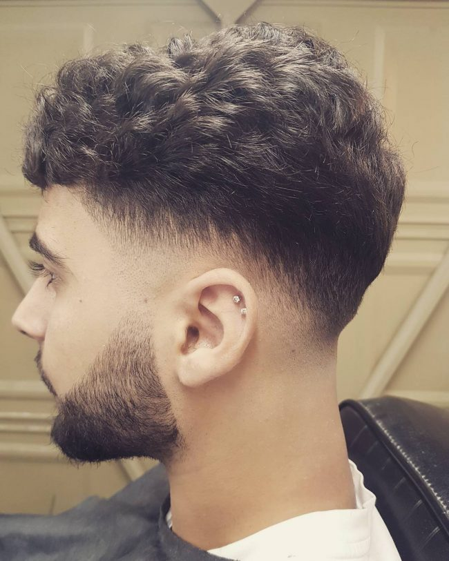 Thick Curls and Fade