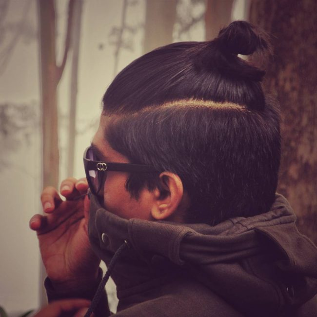 Top Knot for Long Hair