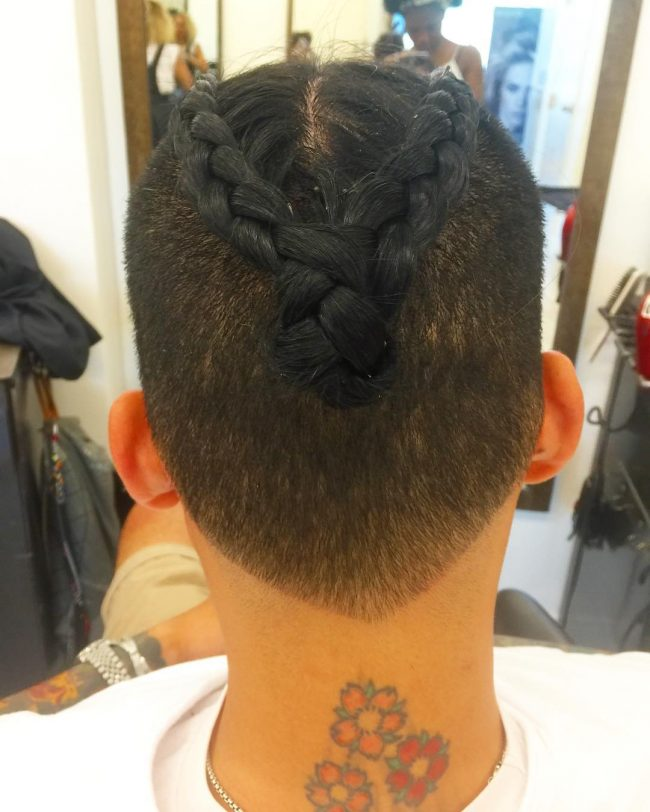 50 Brilliant Braided Buns For Men Double The Style 2020