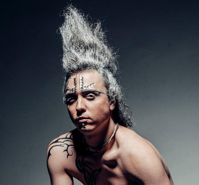 punk men's hairdo
