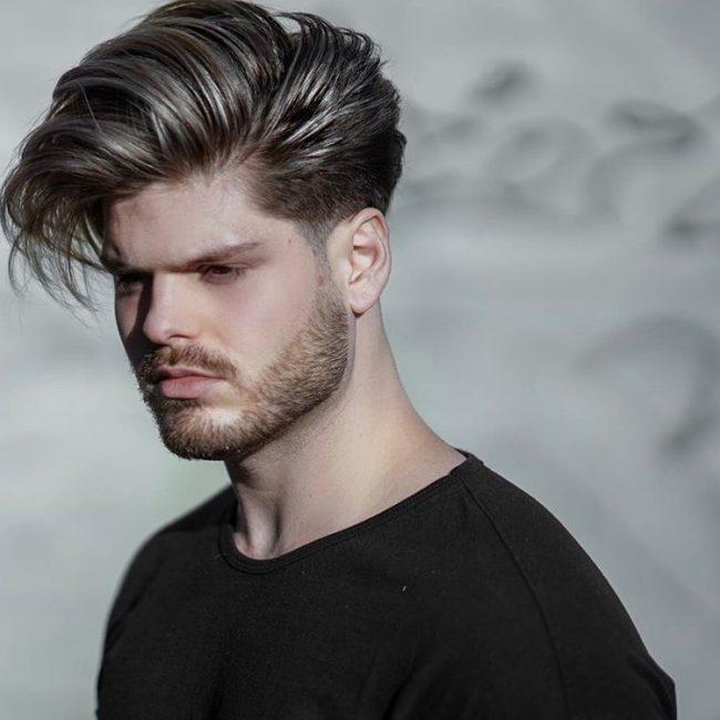 Men Hairstyles Side Swept