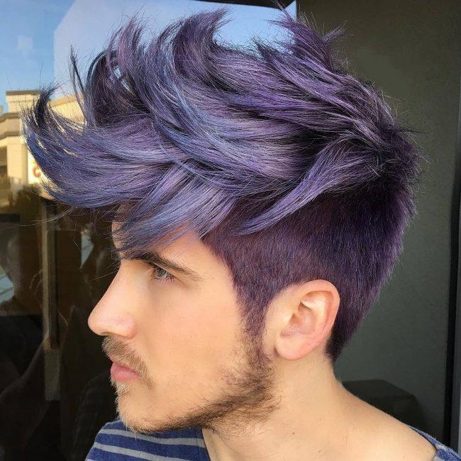 10 Metallic Violet Bangs