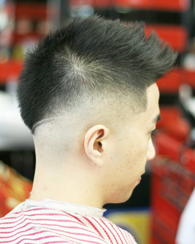 16 Neat Tapered V-Back Cut