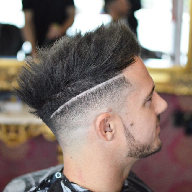 18 Funky Spiked Hair and Side Razor Line