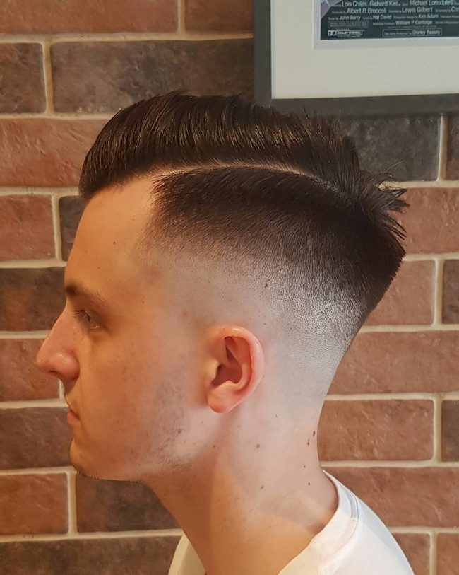 Bold Side Sweep with Tapering Skin Fade