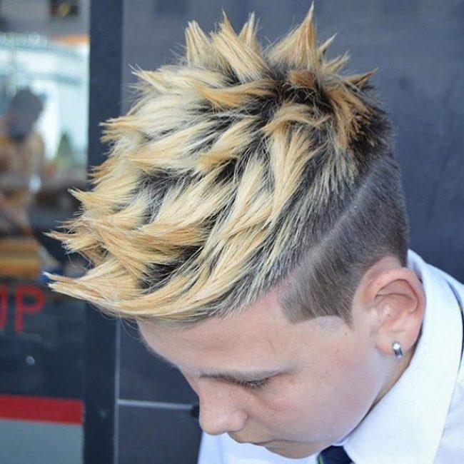 20 Cool Spiky Golden Blonde Bangs