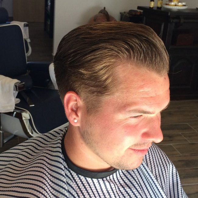 Slicked Back Top with Tapered Sides