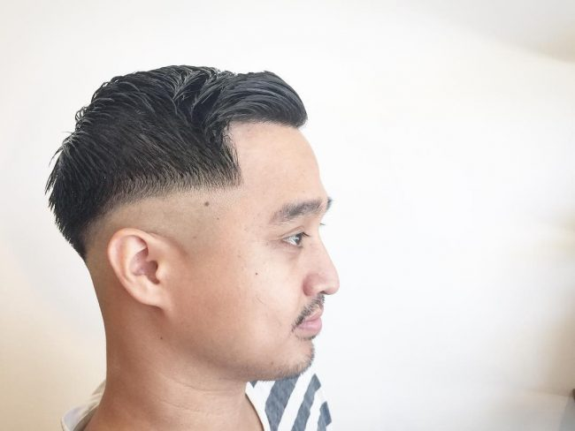 Side Sweep with Low Skin Fade