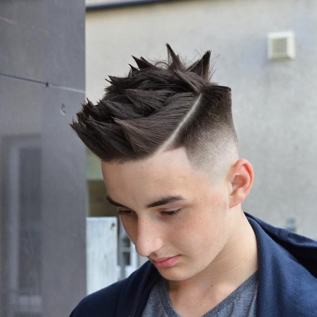 24 Skin Fade and Chunky Spikes