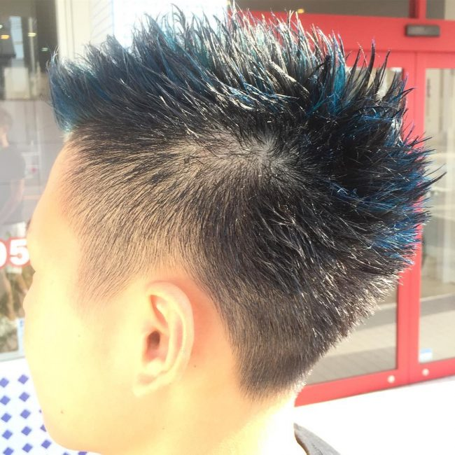 5 Fine Tapered Blue Locks