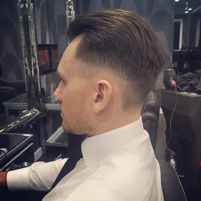 Slick Back Top with Low Bald Fade