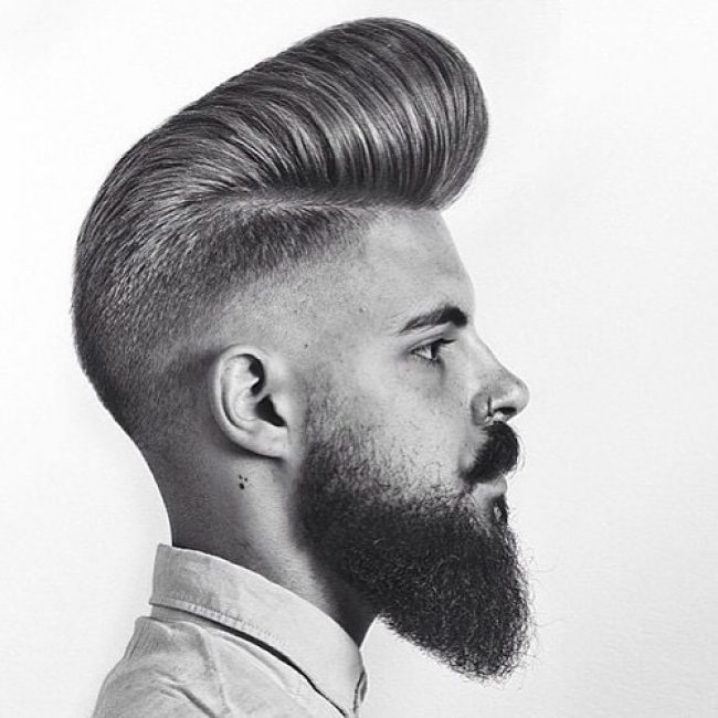Big Pomp Up Front with Graduated Back