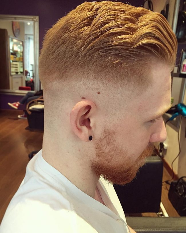 Blonde Pomp with Skin Fade