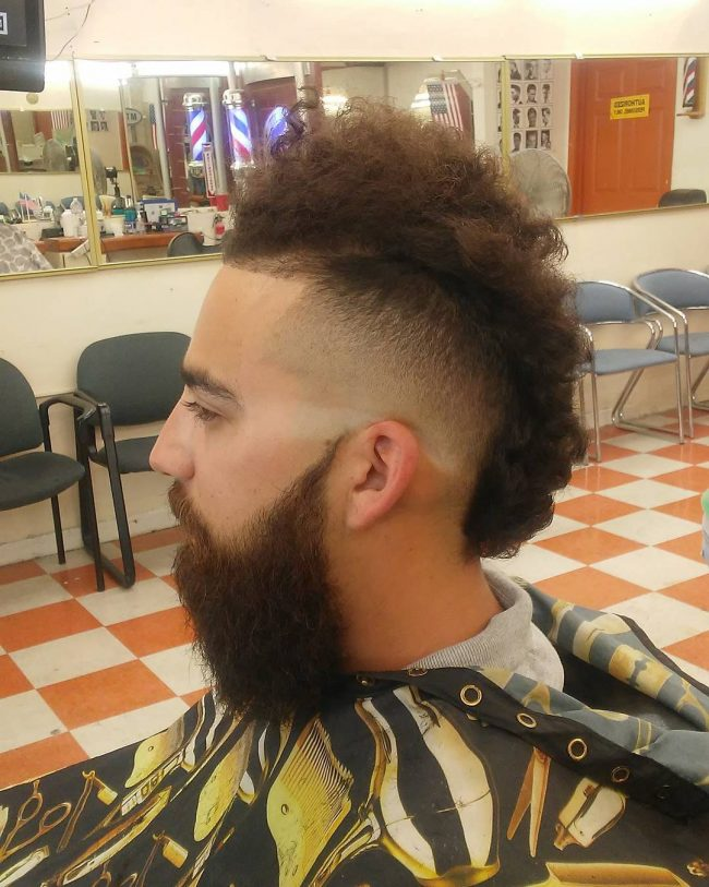 Blowout Afro Curly Mohawk