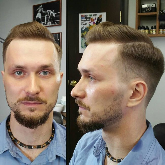 Bushy Chin With Short Sides