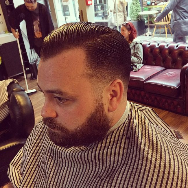 Classic Tapered and Slicked Back Sides