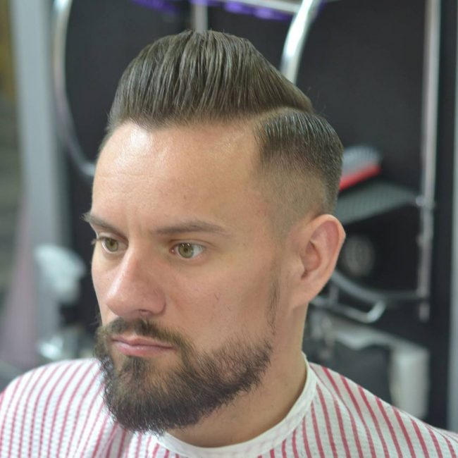 Clipper Cut Pomp with Tapered Sides