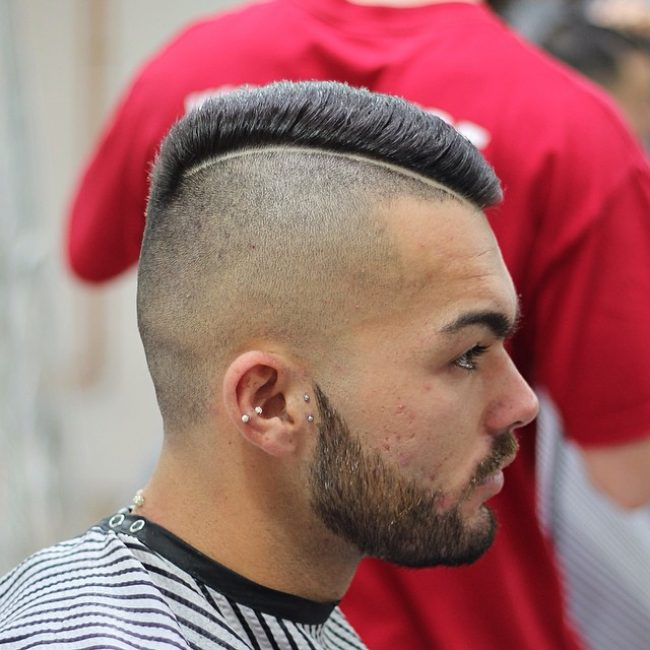 Comb Over Crop Cut with Razored Line