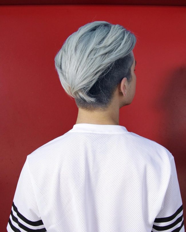 Cool Silver Gray Bangs