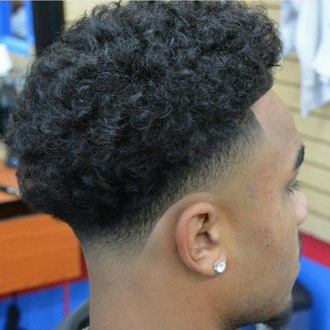 Curly Low Fade Haircut