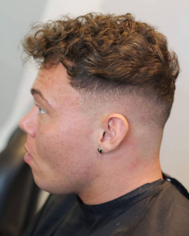 Curly Top and Skin Fade