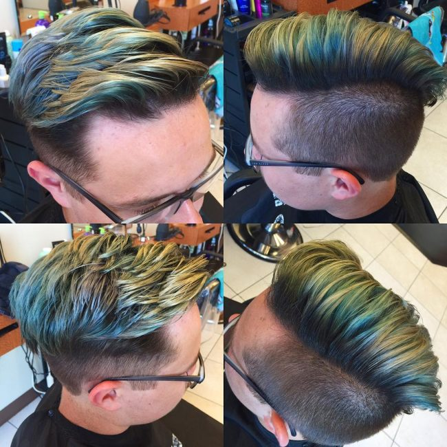 Dazzling Golden Green Faux Hawk