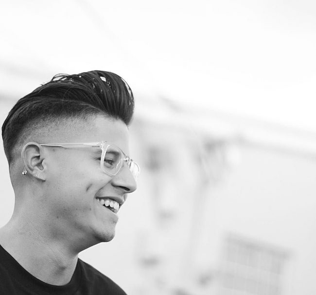 Elevated Pomp with Fade Cut