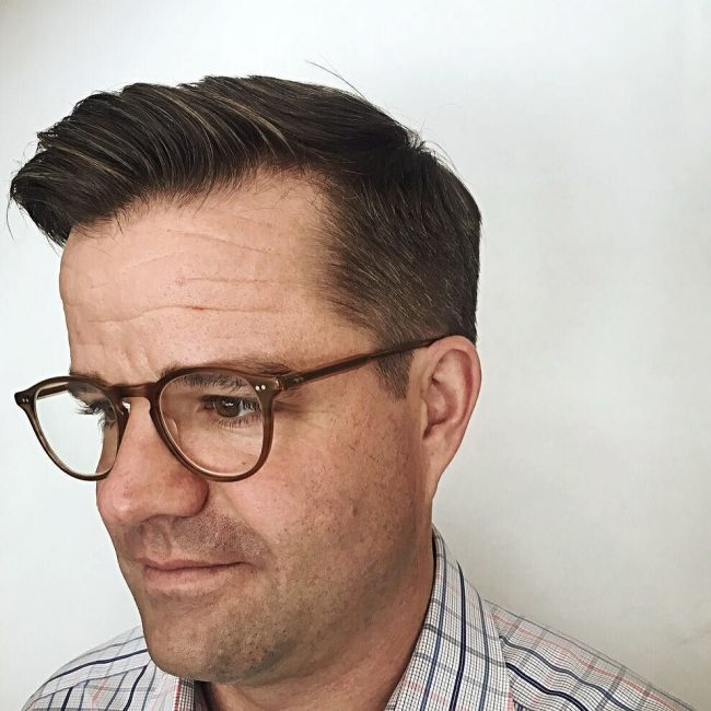 Fashionable Quiff and Taper Fade