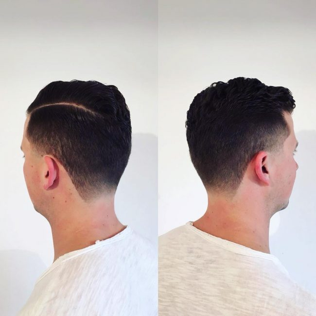 Funky Side part and Taper Fade