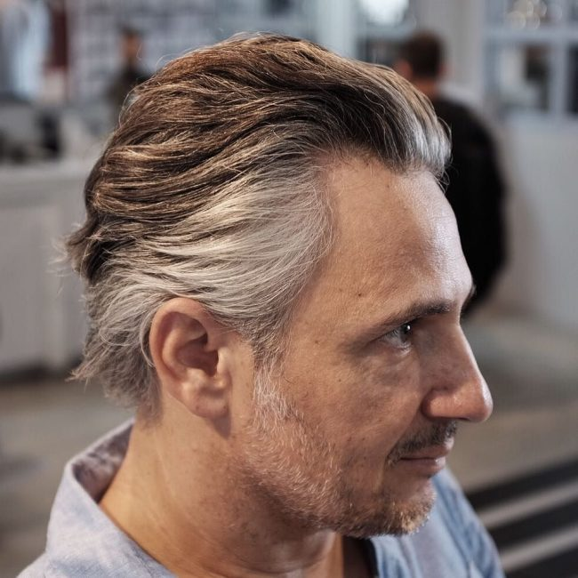 Gray and Wavy Hair