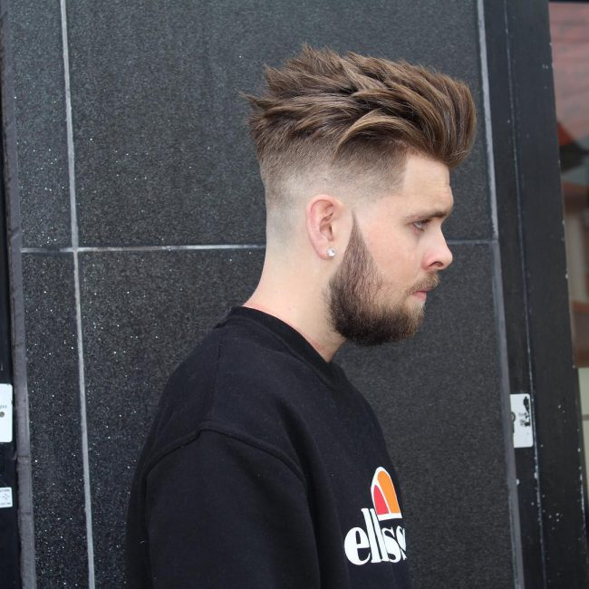 Messy Top with Sharp Fade