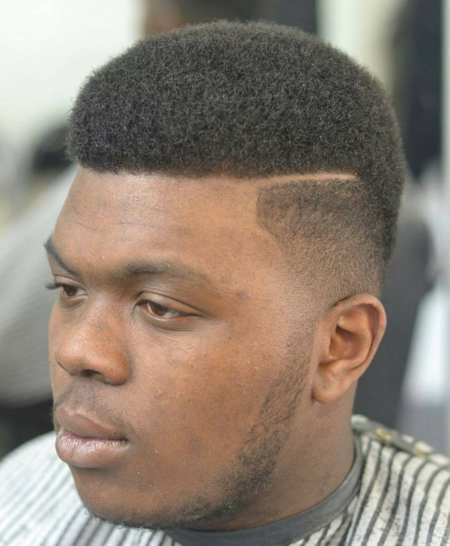 Neat Afro Textured Hair with Smooth Fade