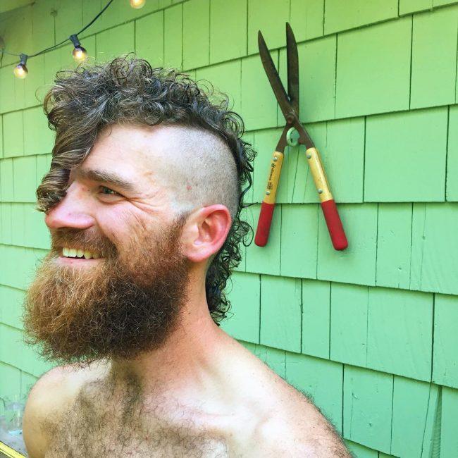 Overhanging Curl Mohawk