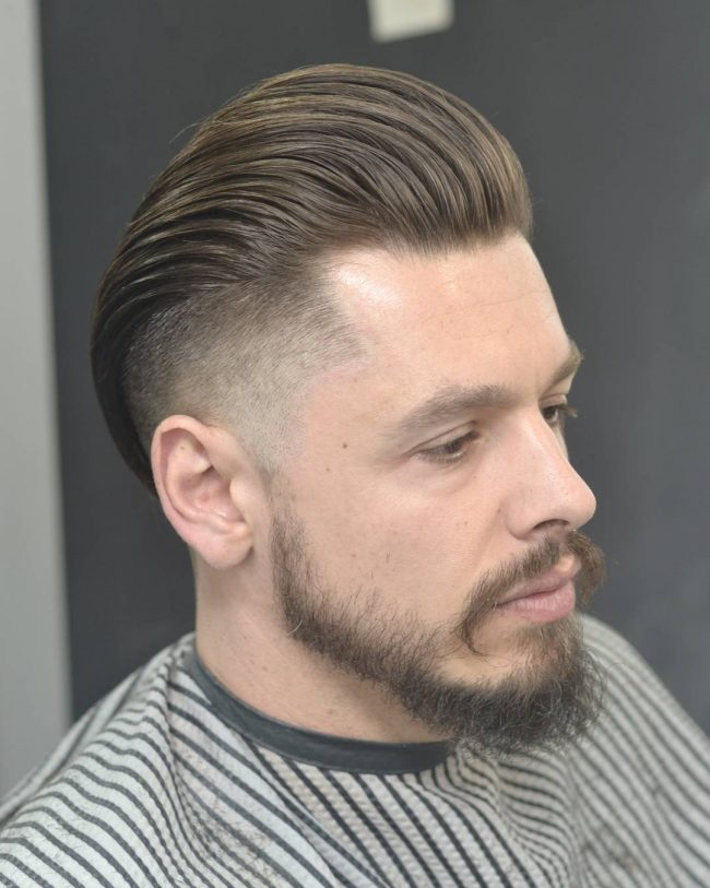 Overlap Smooth Pomp with Heavy Temple Fade