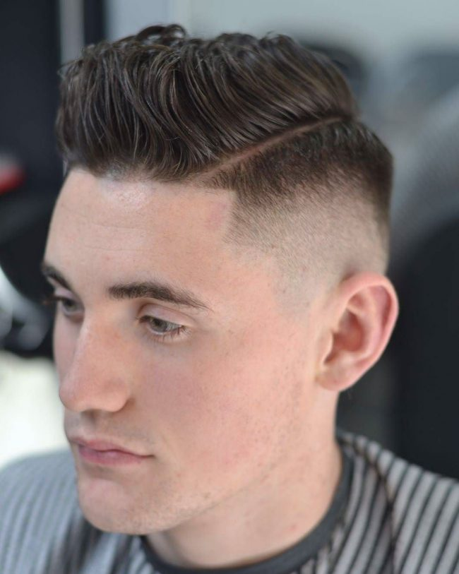 Peaky Blinders Inspired Cut with Hard Side Part