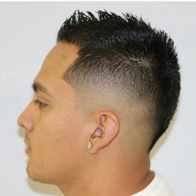Short Fancy Mohawk with a Sharp Fade