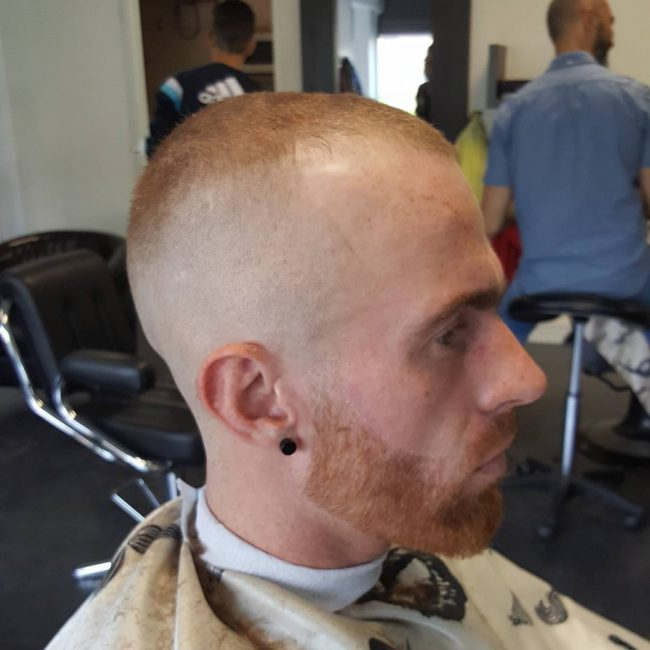 Short with Bald Fade